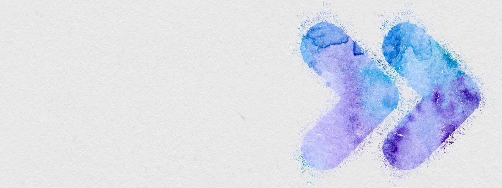 Dos íconos coloridos que indican avanzar